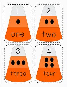 {Candy Corn Number Match Game} It's Always Sunny in SPED