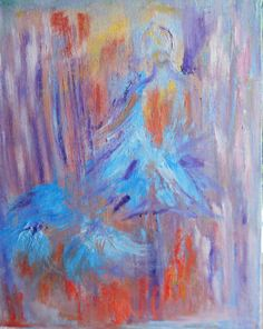 Blue Ballerina Abstract Ballerina Ballerina by FromGlenToGlen, $227.00