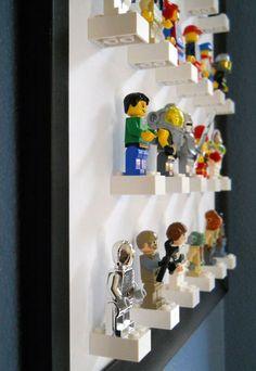 Lego Storage Ideas: The Ultimate Lego Organisation Guide Lego storage ideas & photos. How to organise lego by colour, size, set or purpose. Plus ideas on how to display Lego. The ultimate Lego storage guide! Lego Display, Display Wall, Lego Minifigure Display, Display Stands, Display Ideas, Display Design, Deco Lego, Mini Figure Display, Figurine Lego
