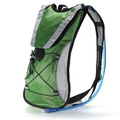 DULEXhydration Pack Water Rucksack Backpack Bladder Bag Cycling Bicycle Bikehiking Climbing Pouch  2l Hydration Bladder Green *** Be sure to check out this awesome product.