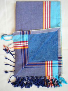 Paradise-1 Blue The Kikoy Factory Kikoy Towel