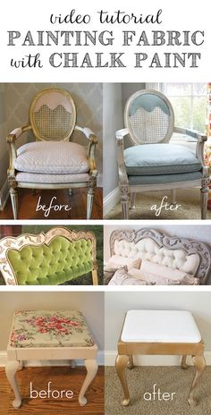 DIY Video Tutorial: Painting Fabric with Chalk Paint #furniture #crafts