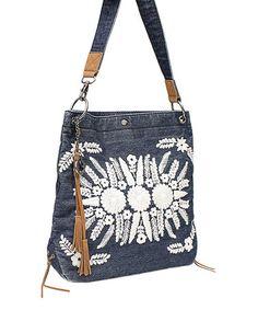 Another great find on #zulily! Blue Denim Puebla Crossbody Bag by Lucky Brand #zulilyfinds