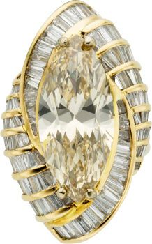 Fancy Brown-Yellow Diamond, Diamond, Gold Ring