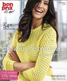 """Catalog BonPrix Oferta """"Noile trend-uri de Primavara!"""" din perioada Ianuarie-Iulie 2016!Oferte si recomandari: geanta clasica cu model decorativ 42.90 lei."""
