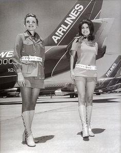 vintage flight attendants