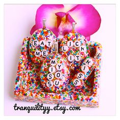 Candy Sprinkle Necklace Valentine Day  Sweet LICK by tranquilityy
