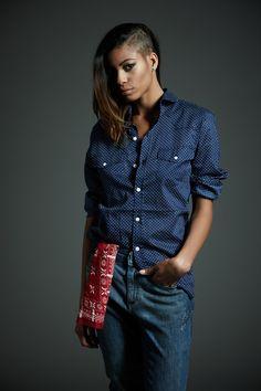 #Derriere fall/winter 2014 #dderriere #jeans #Denim #EasyFit #Mechanical #Wash #Camicia #Shirt #BluePois