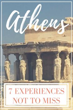 Athens may be world famous for the Acropolis, but there's so much more to see and do, especially when it comes to eating.   So after you've visited the Acropolis and had a gryo, make sure to try these Top 7 Experiences Not to Miss In Athens!