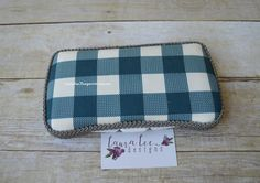 READY TO SHIP Blue Buffalo Plaid Travel Baby by LauraLeeDesigns108