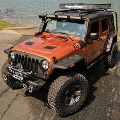 Rugged Ridge Front & Rear Hurricane Fender Flare Kit, Textured Black Finish - Set of 4 Jeep Wrangler JK & Wrangler Unlimited JK 2016 Jeep Wrangler, Jeep Tj, Jeep Rubicon, Jeep Truck, Orange Jeep, Jeep Wrangler Interior, Jeep Unlimited, Badass Jeep, Jeep Mods