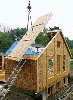 A new home in half the time - add siding to look 'country' and have a well-insulated home....