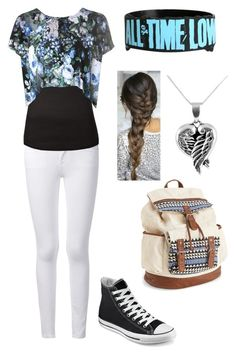 Untitled #59 by stray-arrow on Polyvore featuring polyvore, fashion, style, Glamorous, Frame Denim, Converse, Aéropostale, Jewel Exclusive and clothing