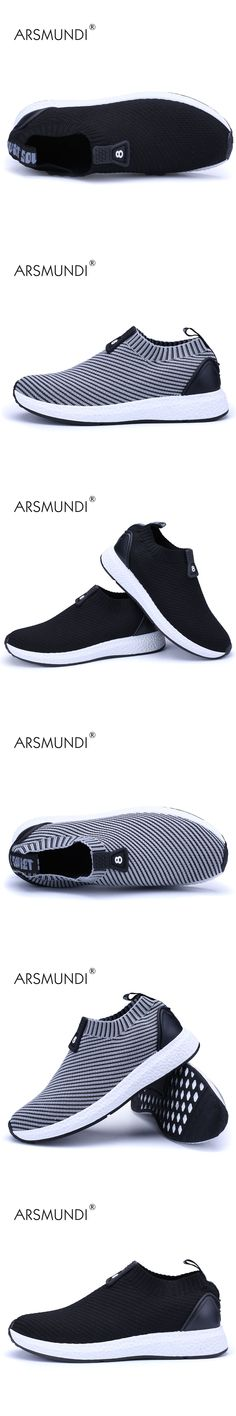 ARSMUNDI Men Running Shoes Men's Jog Air Mesh Summer Sneaker Shoes Sperstar Sports Slip-on Athletics Shoes Free Shipping