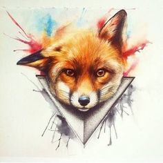Foxes in my art