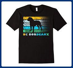 Mens Dogue de Bordeaux Vintage Retro Silhouette Distressed Shirt 2XL Black - Retro shirts (*Amazon Partner-Link)