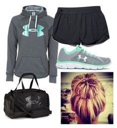 """Under armor"" by rylee-elizabeth on Polyvore featuring Under Armour"