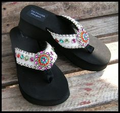 3f81af9bcf37 Rock it Out Chica s -white hair on hide Flops from Saltwater Cowgirl will  put the finishing touch on your Summer Fun. Leather straps and swarvoski  crystals ...
