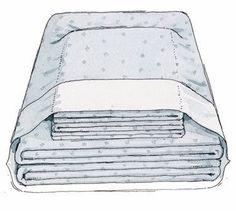 Komplett bäddning: Stoppa lakan och påslakan i örngott.