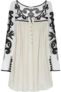 ShopStyle: Temperley London Tattoo lace silk-blend tunic This would be a dress on me. Indian Fashion, Boho Fashion, Womens Fashion, Latest Fashion, Fashion Dresses, Mode Kimono, Bohemian Mode, Lace Silk, Mode Style