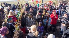 DAPL construction halted by protesters near St. Anthony, ND, Sunday
