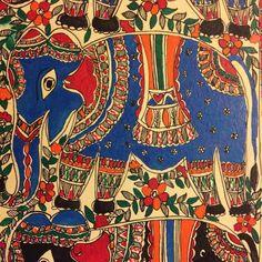 'Group of Elephants'- Madhubani Painting