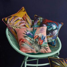 Magical bright colourful scatter cushions for maximalist homes.   Bring some tropical joy into your home with our palm leaves, monstera, jelly fish and under the sea inspired cishions.   Great for dark interiors, unusual spaces, bold homes and those who want to stand out.   #sustainablehome #botinicalhomedecor Scatter Cushions, Throw Pillows, Jelly Fish, Dark Interiors, Underwater World, Under The Sea, Palm, Product Launch, Tropical