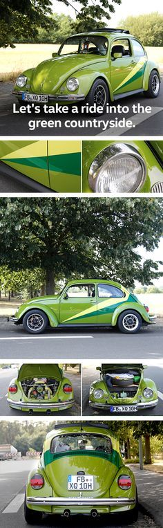 This vintage Beetle bug is a true evergreen not only in terms of colour. If you love vintage Volkswagen models you might want to check out the brief overview of the seasons finest Volkswagen fan gatherings and vintage car rallies around the globe presented by Das Auto. Magazine.