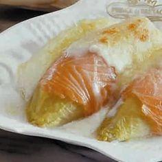 Gratiné d'endives au saumon