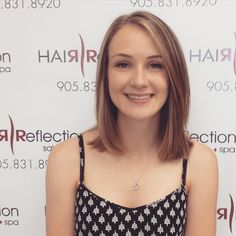 Beautiful Nicole cut off 6 inches of hair and is now loving her new colour and style #balayage#soft#highlights#lob#change#summer#hairbyjules#hairreflection#pickering#trending