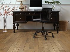 Create A Work Space Youu0027ll Actually Be Productive In | Mid Tone Hardwood  Flooring