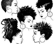 Black Girl Art, Black Art, Art Girl, Ethnic Hairstyles, African American Hairstyles, Afro Hair Drawing, Afro Tattoo, Tattoos, Hair Sketch