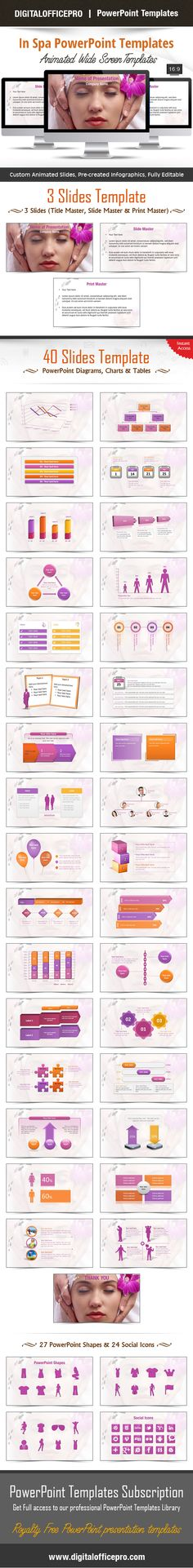 Impress and Engage your audience with In Spa PowerPoint Template and In Spa PowerPoint Backgrounds from DigitalOfficePro. Each template comes with a set of PowerPoint Diagrams, Charts & Shapes and are available for instant download.