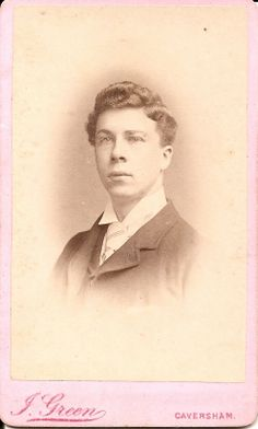6.Smart young man.Photographer Joseph Green & Son, Caversham/Reading. In 1871 Joseph was married to 2nd wife Emma (1st wife Sarah died) he was Upholsterer,in 1881 a PHotographer,1891 a PH & Son - Alfred & Daughters Alice & Sarah all assistants,1901/1911 Alfred married,still PH & Joseph still PH in 1901,but 1911 age 79 a widower Joseph living with Sister Elizabeth & is a furniture restorer.He died 1915.