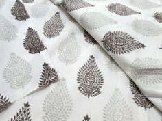 Buy Organic Cotton, Grey Block Print, Herbal Dyed , Natural Dyes, Cambric Cotton, Great for Infants and Children by ecofabricstore. Explore more products on http://ecofabricstore.etsy.com
