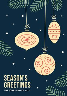 Set of three vector christmas card templates by Graphic Goods. Features: A5 size, 300DPI, CMYK Fully layered and editable All vector, scale to any size you need PSD + AI + EPS Free fonts (links in help file)