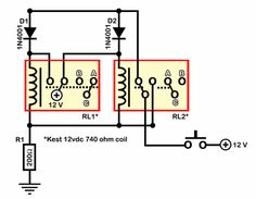 Build A Relay Toggle Switch   Wiring And Schematic