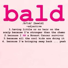 Bald & Beautiful #breast cancer #survivor #bald