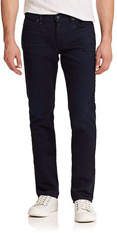 A deep indigo wash refines this comfortable straight-leg silhouette.;Five-pocket style;Zip fly;Inseam, about 34″;Cotton;Machine wash;Made in USA; Brand: 7 For All Mankind Retailer: Saks-Fifth-Avenue Similar Item Here  Price : 189.00$