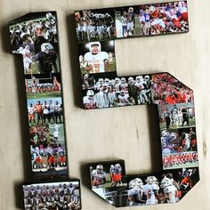 Number Collage, Block font, 12 Inches. Perfect sports keepsake for your favorite athletes. Moms, get the tissues! Senior Night, graduation, thought gifts for boyfriend from the best girlfriend ever. See more at The Collage And Wood Shop, www.collageandwood.com