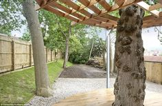 Bringing the outside in: The ancient oak trees are built into the design of the house, bri...
