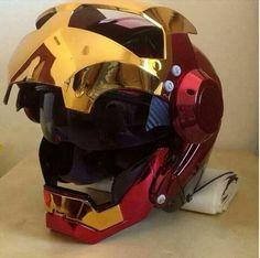 Ideas for bike helmet design iron man Custom Motorcycle Helmets, Custom Helmets, Motorcycle Gear, Custom Bikes, Women Motorcycle, Iron Men, Bike Helmets, Iron Man Helmet Motorcycle, Cubs