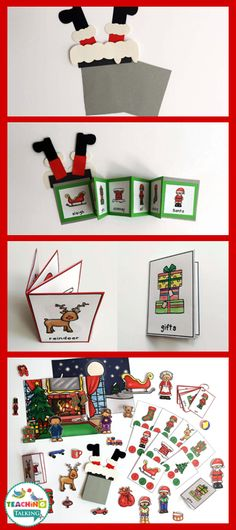 """Have some Christmas themed fun with my interactive vocabulary set. Make a funny """"stuck Santa"""" craft while reinforcing early language with 5 unique activities!"""