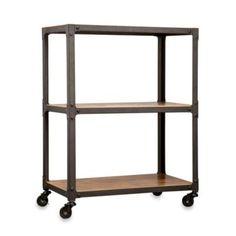 Loft Living™ Wood and Metal 3-Tier Rolling Cart - BedBathandBeyond.com