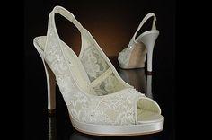 Stunning lace wedding shoes  Wedding Clan