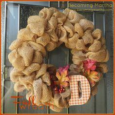 Fall/ Autumn bubble Wreath