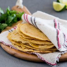These quick, easy homemade corn tortillas need only three ingredients and take only 30 minutes to make.