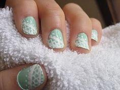 Nail Polish design- Lace