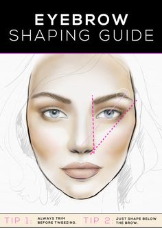 Follow these steps to create the best shaping of eyebrows.