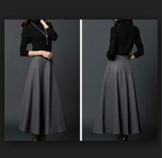 One day I'll buy a grey wool skirt like this